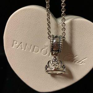 Authentic Pandora Cinderella Crown Charm